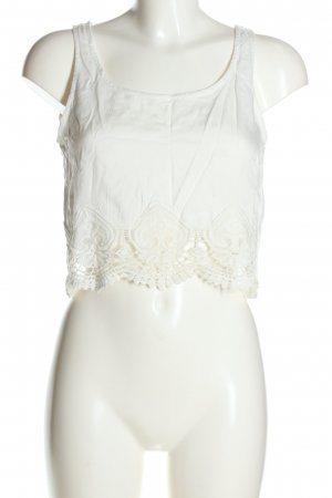 H&M Divided Crochet Top white casual look