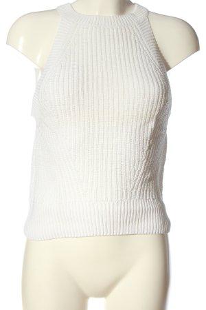H&M Divided Szydełkowany top biały Siateczkowy wzór W stylu casual