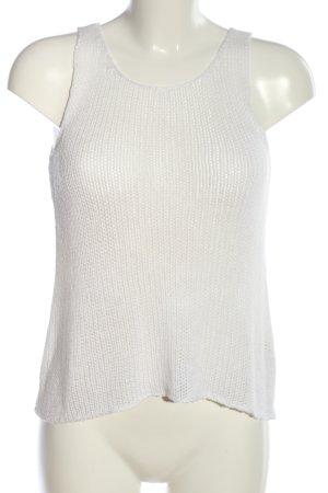 H&M Divided Top de ganchillo blanco punto trenzado look casual