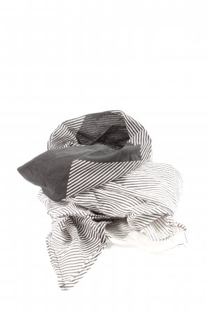 H&M Divided Foulard blanc-noir motif rayé style décontracté