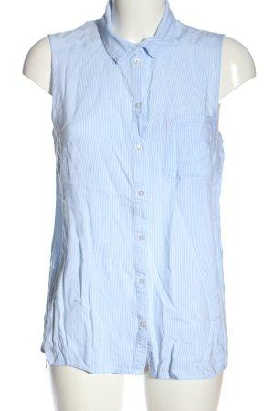 H&M Divided Hemd-Bluse weiß-blau Allover-Druck Casual-Look
