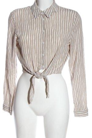 H&M Divided Hemd-Bluse creme-weiß Streifenmuster Elegant