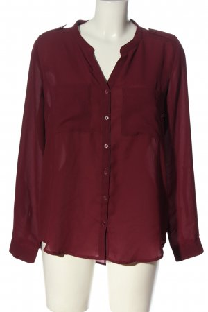 H&M Divided Hemd-Bluse rot Business-Look