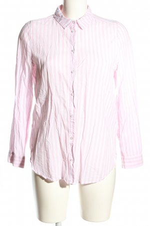 H&M Divided Hemd-Bluse pink-weiß Allover-Druck Business-Look