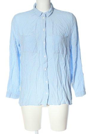 H&M Divided Hemd-Bluse blau-weiß Streifenmuster Business-Look