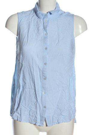 H&M Divided Hemd-Bluse blau-weiß Streifenmuster Casual-Look