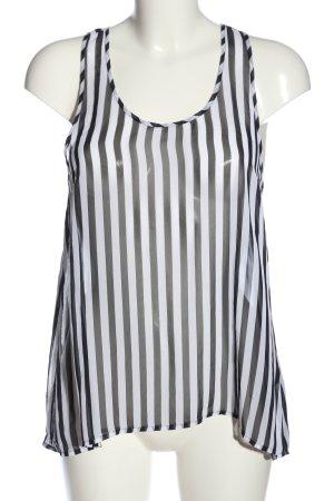 H&M Divided Hemd-Bluse weiß-schwarz Streifenmuster Casual-Look