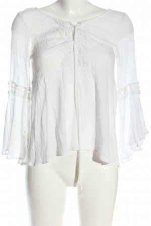 H&M Divided Hemd-Bluse weiß Casual-Look