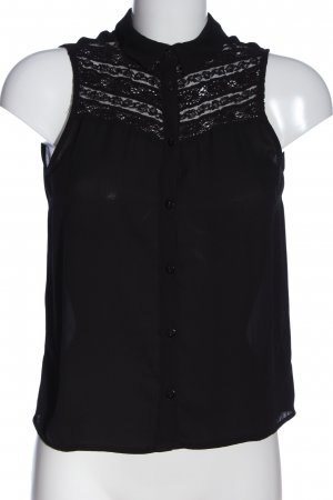 H&M Divided Hemd-Bluse schwarz Business-Look