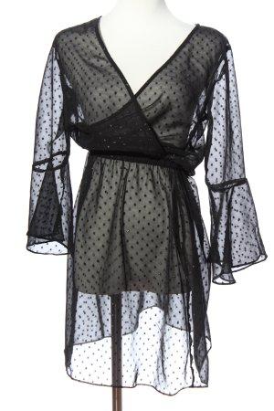 H&M Divided Hemdblusenkleid schwarz Punktemuster Elegant