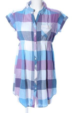 H&M Divided Shirtwaist dress blue-lilac check pattern casual look