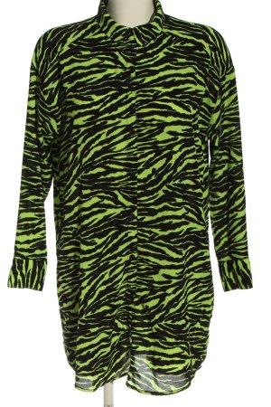 H&M Divided Hemdblousejurk zwart-groen dierenprint casual uitstraling