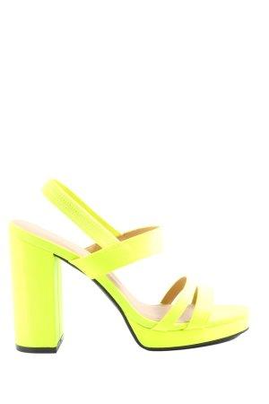 H&M Divided High Heel Sandaletten blassgelb Casual-Look