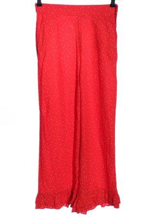H&M Divided Pantalon taille haute rouge-blanc motif de tache style décontracté