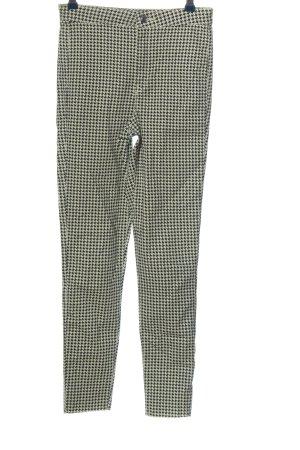 H&M Divided High-Waist Hose schwarz-weiß grafisches Muster Casual-Look