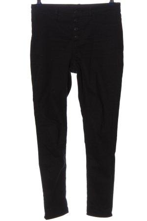 H&M Divided Spodnie z wysokim stanem czarny W stylu casual