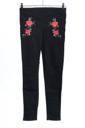 H&M Divided High-Waist Hose Blumenmuster Casual-Look