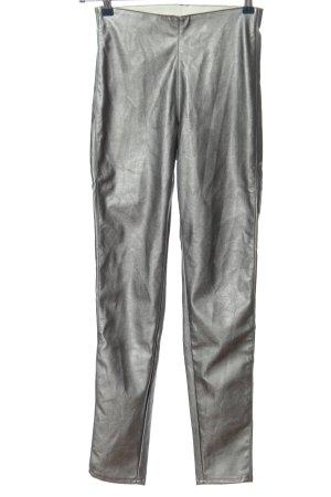 H&M Divided High-Waist Hose silberfarben Casual-Look