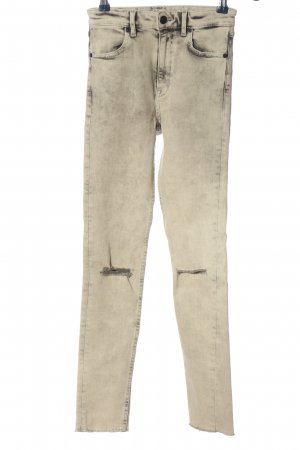 H&M Divided High Waist Jeans creme Casual-Look