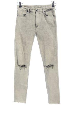 H&M Divided High Waist Jeans hellgrau Casual-Look