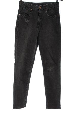 H&M Divided High Waist Jeans schwarz Elegant