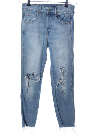 H&M Divided Hoge taille jeans blauw casual uitstraling