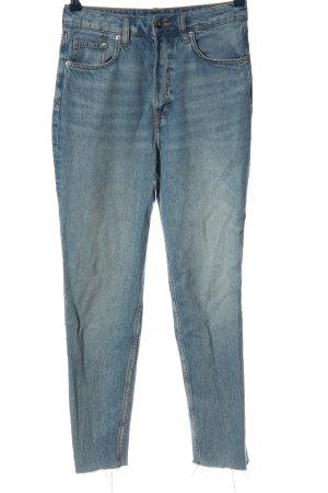 H&M Divided High Waist Jeans blau Casual-Look