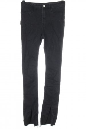 H&M Divided Hoge taille jeans zwart casual uitstraling