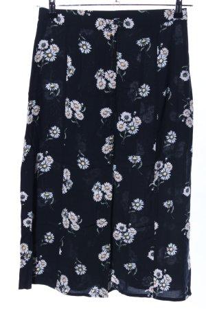 H&M Divided Rok met hoge taille bloemenprint casual uitstraling