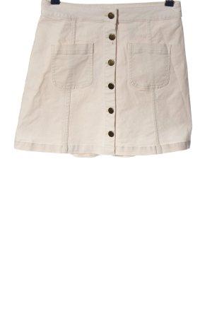 H&M Divided Falda de talle alto blanco look casual