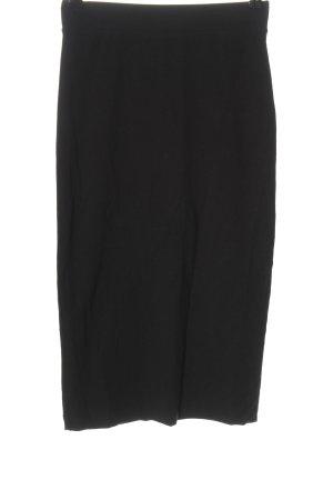 H&M Divided Jupe taille haute noir style d'affaires