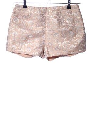 H&M Divided High-Waist-Shorts creme-weiß Allover-Druck Casual-Look