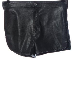 H&M Divided Pantaloncino a vita alta nero stile casual