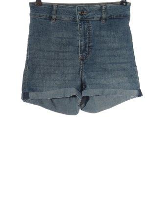 H&M Divided High-Waist-Shorts blau Casual-Look
