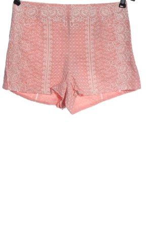 H&M Divided Szorty z wysokim stanem różowy-w kolorze białej wełny