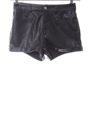 H&M Divided High-Waist-Shorts schwarz Business-Look