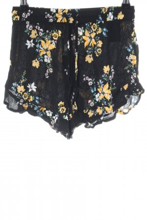 H&M Divided High-Waist-Shorts Allover-Druck Casual-Look