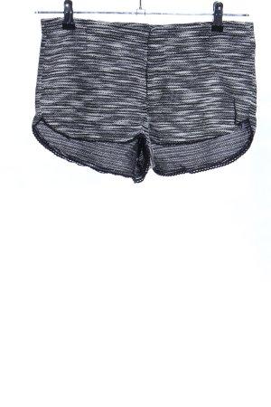 H&M Divided High-Waist-Shorts hellgrau-schwarz Allover-Druck Casual-Look