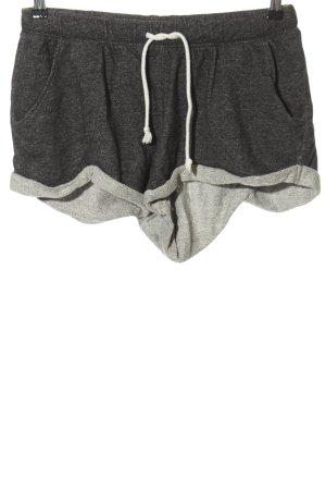 H&M Divided Short taille haute gris clair moucheté style décontracté