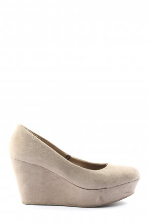 H&M Divided Hochfront-Pumps wollweiß Casual-Look