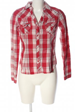 H&M Divided Holzfällerhemd rot-weiß Allover-Druck Casual-Look
