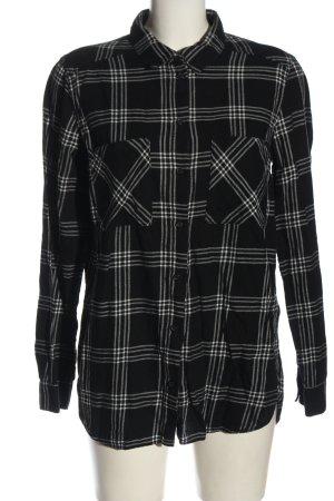 H&M Divided Holzfällerhemd schwarz-weiß Karomuster Casual-Look