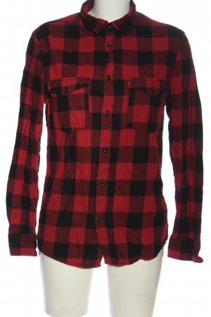 H&M Divided Lumberjack Shirt red-black allover print casual look