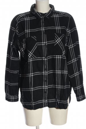 H&M Divided Lumberjack Shirt black-white allover print casual look