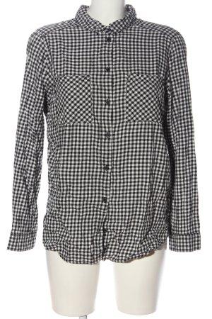 H&M Divided Holzfällerhemd schwarz-weiß Karomuster Business-Look