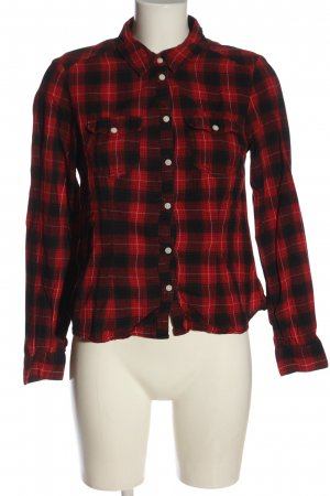 H&M Divided Holzfällerhemd rot-schwarz Karomuster Casual-Look