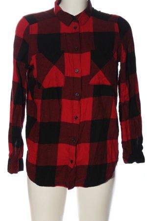 H&M Divided Camisa de leñador rojo-negro estampado a cuadros look casual
