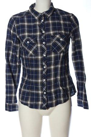 H&M Divided Camisa de leñador azul-blanco puro look casual