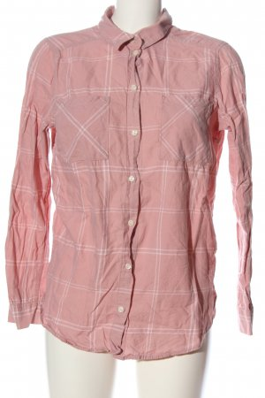 H&M Divided Holzfällerhemd pink-weiß Allover-Druck Casual-Look