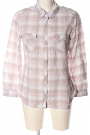 H&M Divided Holzfällerhemd pink-weiß Karomuster Business-Look